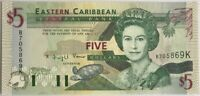 CARAIBES - 5 DOLLARS Non Daté - Billet de banque NEUF