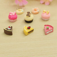 8x Bakery Kitchen Food Cake Donuts Cupcake For 1/12 Dollhouse Miniature Gift