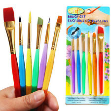 6 Pcs/Set Paint Brush Set New Nylon Handle Brush Kid Watercolor Drawing Pip Md