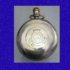 Vintage & Rare Silver Waltham Liverpool 7Jewel Salvation Army Pocket Watch 1886
