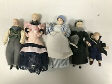 Vintage Dolls House Porcelain Victorian/Edwardian Style Doll Family Figures Set