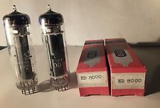 Pair ED8000  Tubes All <> Telefunken For SE Single-Ended Or OTL Amplifier