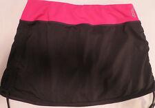 Reebok PlayDry Womens Black/Pink Athletic Compression Skirt Panties Small