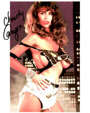 Busty Adult Film Legend CHRISTY CANYON nice top signed photo!