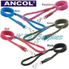 Ancol Dog Soft Strong Nylon Rope Lead Leads  medium 10mm  or heavy weight 12mm