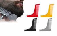 Bart Schablone Bartschablone Rasierhilfe Styling Tool mit integriertem Bartkamm