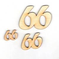 66. Geburtstag Zahl aus Holz verschiedene Größen Geschenk Hochzeit Jubiläum Deko