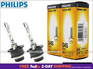 2x PHILIPS D4S 4300K OEM XenEco Headlight Bulbs 42402 35W DOT Germany Pack of 2