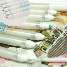 1X Portable White Ink Gouache Gel Pen Stationery Pastel Photo Album Card Marking
