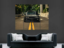 BMW E30 M3 Voiture Noire Poster Fast Speed Racing Sport Wall Art Print Large
