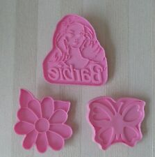 WILTON Cookie Cutters BARBIE Set of THREE Barbie Butterfly Flower