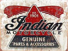 Indian Motorcycle EST 1901, Retro metal Aluminium Sign vintage Motorbikes Garage