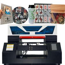 Uv Led Printer A3 Uv Flatbed Printer Cylindrical Glass Metal Acrylic Printing