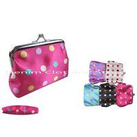 6pcs Women Girl Mini Dots Clutch Wallet Coin Change Key Case Bag Purse Pouch Lot