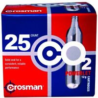 CO2 Cartridge 12g Crosman For Gas Powered Gun Pellet Airsoft USA Made Powerlet