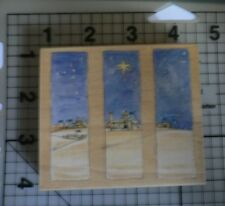"""Penny Black Wood mounted rubber Stamp """"Silent Night""""  Rare Margaret Sherry 2005"""