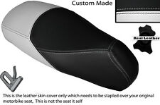 WHITE & BLACK CUSTOM MADE FITS LUDIX SNAKE 50 DUAL LEATHER SEAT COVER ONLY