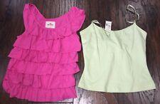 2 Summer Tops Tanks Cami Pink Hollister Green Maurices Jr Women's XS 00-1