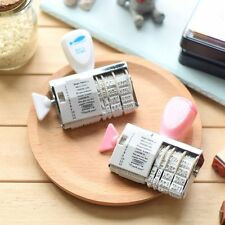 Kawaii Vintage Roller Stamps Rubber Wheel DIY Album Tools Words And Date Stamp