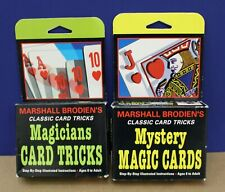 Marshall Brodien's Magicians Card Tricks & Mystery Magic cards Sealed Boxes 1993