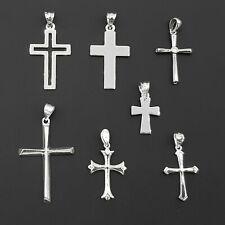 Echt 925 Sterling Silber Kreuz Anhänger Silberkette Panzerkette Halskette