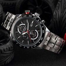 Curren Luxury Black Men's Stainless Steel Date Military Sport Quartz Army Watch