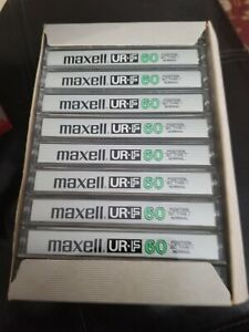 Maxell UR-F Cassette tapes Lot Of 10 New Opened box RARE TAPE