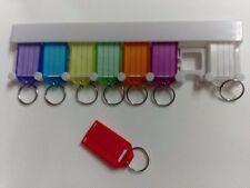 8 Schlüsselanhänger + Halter zum Beschriften Schlüsselschilder Pension Hotel Hof