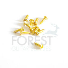 10 Set pickguard screws for Fender ® oval head gold 3x12mm