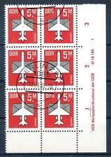 614387) DDR ER 6erBlock Nr.2967 gest. mit Druckvermerk Flugpost