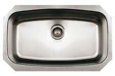 "Whitehaus WHNCUS2917 29-1/2"" Noah Single Bowl Undermount Kitchen Sink, Stainless"