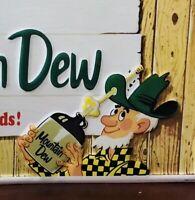 "My Dew Ya-hooo Tin Soda Pop Advertising Sign Collectible Retro Style 31x15 1/2"""