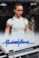 MICHELLE WATERSON 2017 Topps Chrome UFC Fighter On Card Autographs #FA-MW MMA