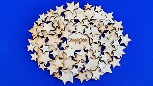 Wooden Stars Laser Cut MDF Blank Embellishments Craft Decorations Shapes