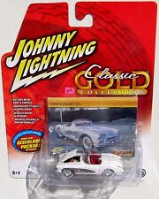 JOHNNY LIGHTNING CLASSIC GOLD 1958 CHEVY CORVETTE Rubber White Wall Tires
