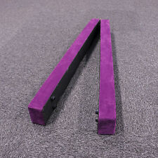 7' Purple Sectional Folding Balance Beam Floor Athletics Performance Equipment