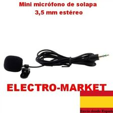 Mini micrófono de solapa 3,5 mm para Tablet PC portátil Skype MSN