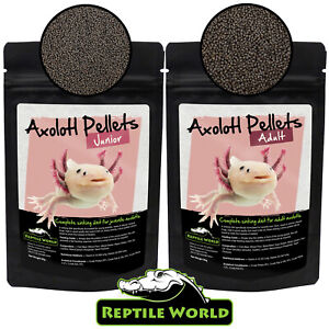 Reptile World Axolotl Junior & Adult Pellets - Amphibian Food, Newts, Frogs