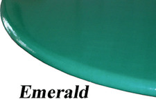 """Stretch to fit Elastic Edge Round Vinyl Tablecloth  49"""" to 62"""" Emerald Green"""