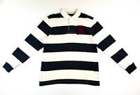 Rugby Ralph Lauren Striped Gothic R Black White Size Large Mens Polo Shirt