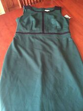 NWT NEW EMERALD PONTE CHARTER CLUB AWESOME DRESS - 16 COLOR IS SWEET