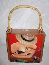 Exclusive Gift .Oil Painting on Top Cigar Box Purse .Choose your Paintings!
