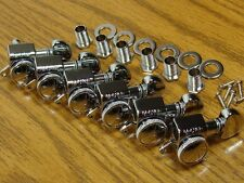 NEW Grover LOCKING CHROME TUNERS 6 In Line for Fender Strat Tele TK-7926-010