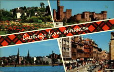 INVERNESS postcard ~1960/70 Bellfield Park Castle from Friars Shott street