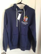 abercrombie and fitch navy hoodie mens size s