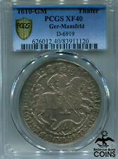 1610-GM Germany Ger-Mansfeld Silver Thaler PCGS XF40 (Extra Fine) D-6919 KM #9