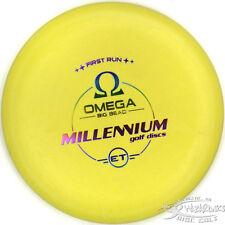 New First Run Big Bead Yellow Omega Et 170g Millennium Disc Golf Extra Tacky