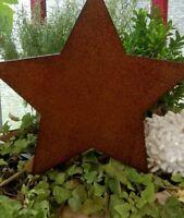 Edelrost Stern Beetstecker Gartenstecker braun 14cm Deko Rost landhaus Christmas