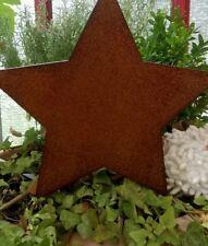 Patina Star Flowerbed Stake Garden Brown 5 1/2in Decor Rust Landhaus Christmas