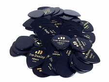 Dunlop Guitar Picks Teardrop Classic Celluloid Heavy Black 72 Pack